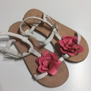 Janie and Jack little girls leather sole sandals